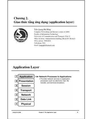 Bài giảng Mạng máy tính - Chương 2: Giao thức tầng ứng dụng (Application Layer) - Trần Quang Hải Bằng