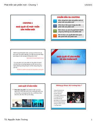 Bài giảng Phát triển sản phẩm mới - Chương 1: Phát triển sản phẩm mới - Nguyễn Xuân Trường
