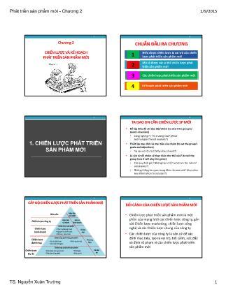 Bài giảng Phát triển sản phẩm mới - Chương 2: Chiến lược và kế hoạch phát triển sản phẩm mới