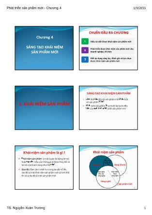 Bài giảng Phát triển sản phẩm mới - Chương 4: Sáng tạo khái niệm sản phẩm mới