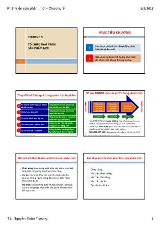 Bài giảng Phát triển sản phẩm mới - Chương 9: Tổ chức phát triển sản phẩm mới