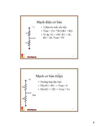 Bài giảng Thiết kế hệ thống vi xử lý - Chương 2: Các mạch số cơ bản, flip-flop, mạch nhớ - Nguyễn Hồng Quang