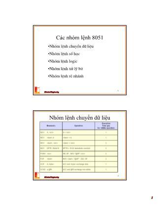Bài giảng Thiết kế hệ thống vi xử lý - Chương 5: Giới thiệu về phần mềm Assembler 8051, chương trình dịch (Phần 2) - Nguyễn Hồng Quang