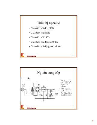 Bài giảng Thiết kế hệ thống vi xử lý - Chương 8: Ngắt và cách xử lý tín hiệu ngắt - Nguyễn Hồng Quang