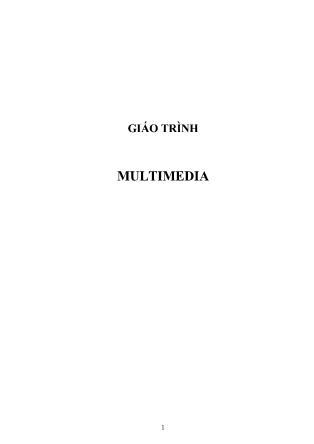 Giáo trình Multimedia