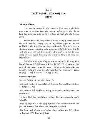 Giáo trình Thiết bị điện gia dụng (Phần 2)