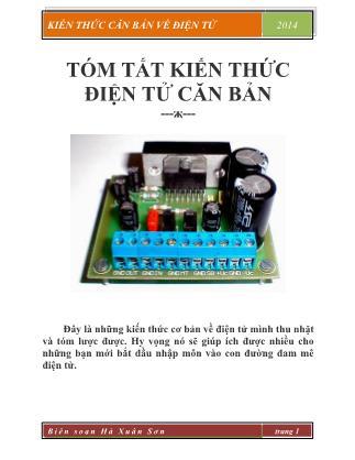 Kiến thức căn bản về điện tử - Hà Xuân Sơn