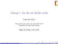Bài giảng Cấu trúc dữ liệu và giải thuật - Chương 3: Các cấu trúc dữ liệu cơ bản - Trịnh Anh Phúc