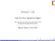 Bài giảng Cấu trúc dữ liệu và giải thuật - Chương 4: Cây - Trịnh Anh Phúc