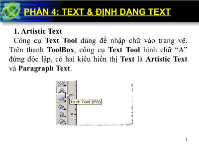 Bài giảng Corel Draw - Phần 4: Text & Định dạng text