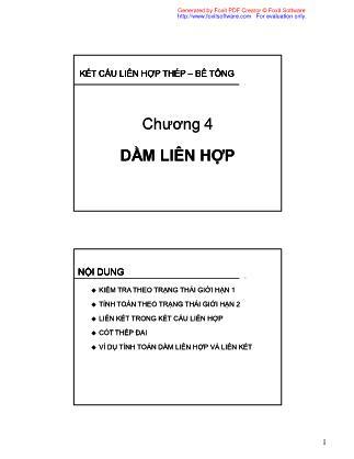 Bài giảng Kết cấu liên hợp thép - Bê tông - Chương 3: Dầm liên hợp - Phan Đức Hùng