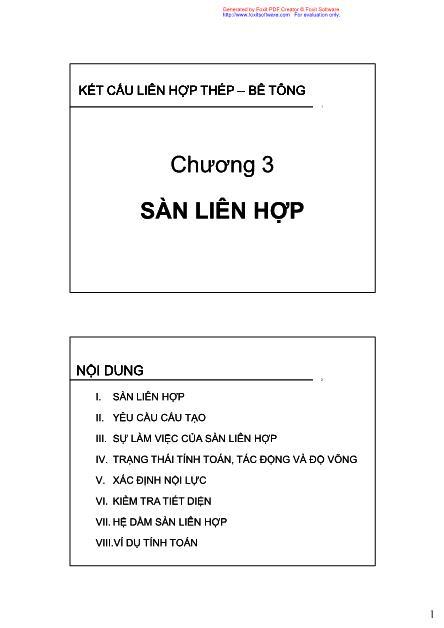 Bài giảng Kết cấu liên hợp thép - Bê tông - Chương 3: Sàn liên hợp - Phan Đức Hùng