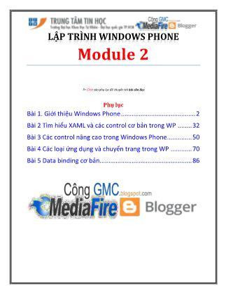 Bài giảng Lập trình Windows Phone - Module 2