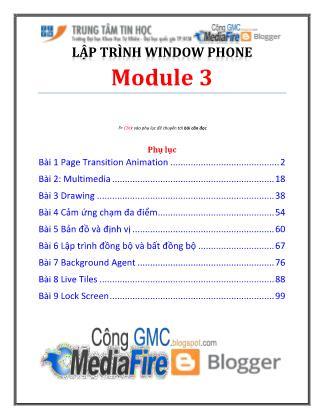 Bài giảng Lập trình Windows Phone - Module 3