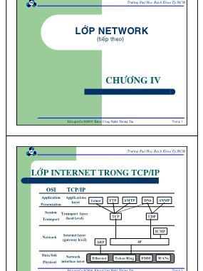 Bài giảng Mạng máy tính - Chương 4: Lớp Internet trong TCP/IP - Nguyễn Cao Đạt