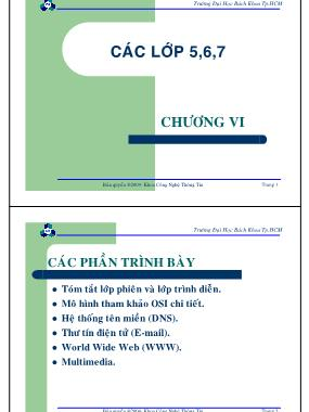 Bài giảng Mạng máy tính - Chương 6: Các phần trình bày - Nguyễn Cao Đạt