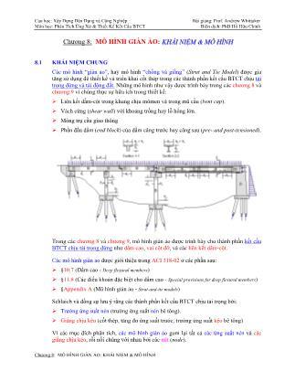 Bài giảng Phân tích ứng xử & thiết kế kết cấu bê tông cốt thép - Chương 8: Mô hình giàn ảo - Khái niệm & mô hình