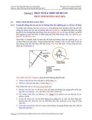 Bài giảng Phân tích ứng xử & thiết kế kết cấu bê tông cốt thép - Chương 6: Phân tích & thiết kế hệ sàn - Phân tích đường chảy dẻo