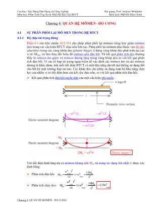 Bài giảng Phân tích ứng xử & thiết kế kết cấu bê tông cốt thép - Chương 4: Quan hệ mômen - Độ cong