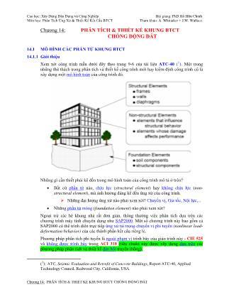 Bài giảng Phân tích ứng xử & thiết kế kết cấu bê tông cốt thép - Chương 14: Phân tích & thiết kế khung bê tông cốt thép chống động đất