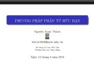 Bài giảng Phương pháp phần tử hữu hạn - Bài 1: Giới thiệu - Nguyễn Xuân Thành