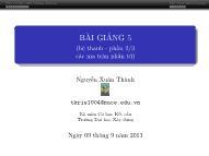 Bài giảng Phương pháp phần tử hữu hạn - Bài 5 (Hệ thanh - Phần 2/3: Các ma trận phần tử) - Nguyễn Xuân Thành