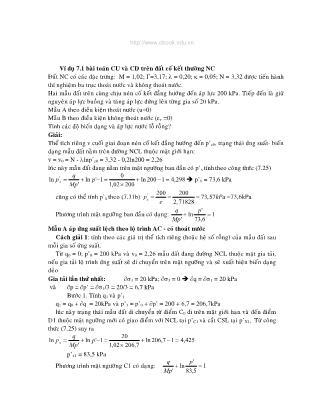Bài tập Cơ học