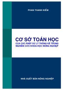 Cơ sở toán học của các phép xử lý thống kê trong nghiên cứu khoa học nông nghiệp (Phần 1) - Phan Thanh Kiếm