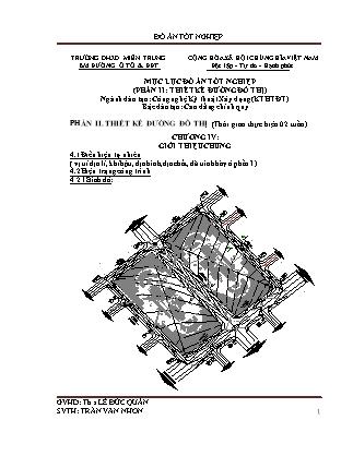 Đồ án tốt nghiệp - Phần II: Thiết kế đường đô thị - Lê Đức Quân