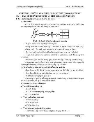 Giáo trình Cấp thoát nước (Phần 1) - Huỳnh Ngọc Hợi