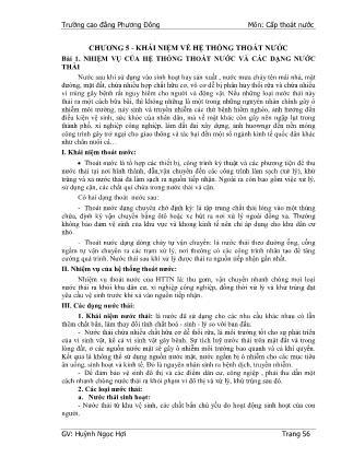Giáo trình Cấp thoát nước (Phần 2) - Huỳnh Ngọc Hợi