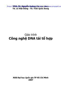 Giáo trình Công nghệ DNA tái tổ hợp - Lê Việt Dũng