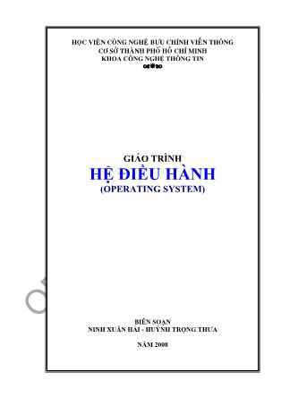 Giáo trình Hệ điều hành - Ninh Xuân Hải