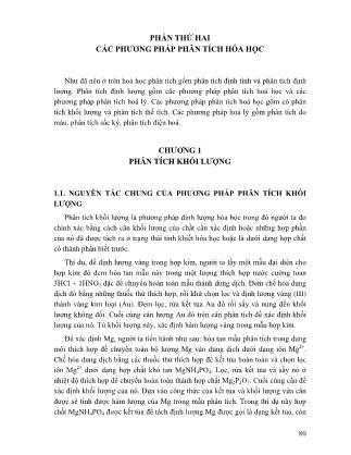 Giáo trình Hóa học phân tích (Phần 2) - Nguyễn Đăng Đức
