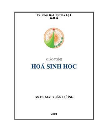 Giáo trình Hoá sinh học - Mai Xuân Lương