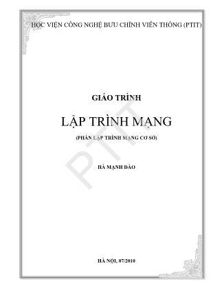 Giáo trình Lập trình mạng - Hà Mạnh Đào