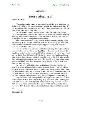 Giáo trình Lý thuyết mật mã - Chương 6: Các sơ đồ chữ kí số - Nguyễn Hoàng Cương