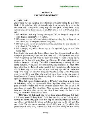 Giáo trình Lý thuyết mật mã - Chương 9: Các sơ đồ định danh - Nguyễn Hoàng Cương