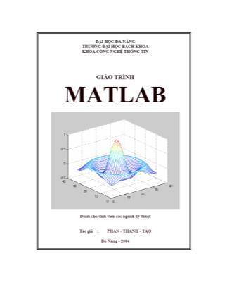 Giáo trình Matlab - Phan Thanh Tao