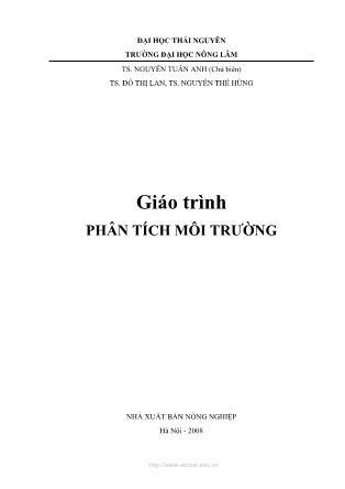 Giáo trình Phân tích môi trường - Nguyễn Tuấn Anh