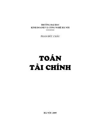 Giáo trình Toán tài chính - Phan Đức Châu