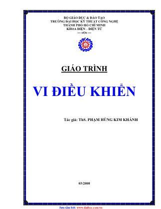 Giáo trình Vi điều khiển - Phạm Hùng Kim Khánh