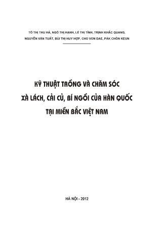 Kỹ thuật trồng và chăm sóc xà lách, cải củ, bí ngòi của Hàn Quốc tại miền Bắc Việt Nam