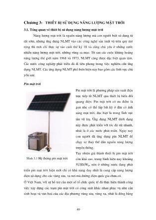 Năng lượng mặt trời - Lý thuyết và ứng dụng (Phần 2) - Nguyễn Bốn