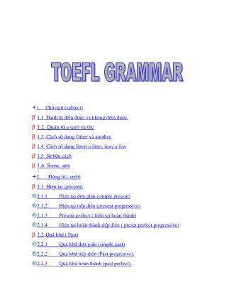 Tổng hợp ngữ pháp luyện thi TOEFL